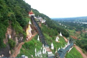 der äußere Bereich der Pindaya Höhlen