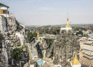 Der berühmte und ungewöhnliche Taung Kwe Paya Tempel in Loikaw