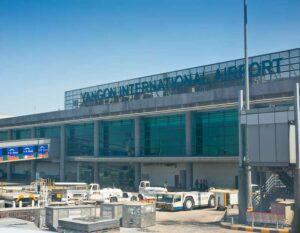Der internationale flughafen von Rangun (Yangon) von hier aus können Sie entweder Ihren Heimflug antreten oder weiter nach Thailand Reisen