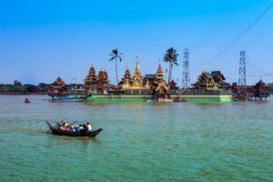 Yelena Paya Pagode, Flusskreuzfahrt Myanmar