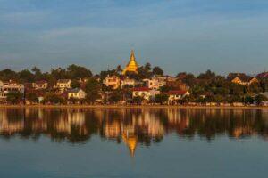 der zentrale Stadtsee von Kiangthung