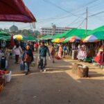 der größte Frischmarkt von Kiangthung
