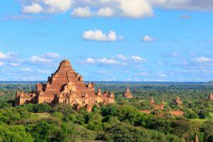 Der Dhammayangyi Tempel ist der größte in Bagan und wurde komplett aus Ziegeln ohne Zement erbaut.