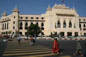 Das stadtzentrum von Yangon oder früher Rangun genannt