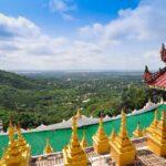 Landschaft Blick vom Mandalay Hill , Mandalay Hill ist ein wichtiger Wallfahrtsort in Myanmar