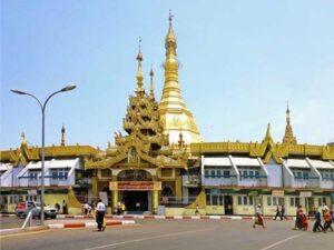 Die Sule Pagode in Rangun (Yangon), Myanmar, Burma