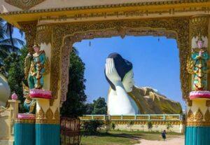 Der Shwethalyaung Buddha ist der liegende Buddha in Bago, Myanmar
