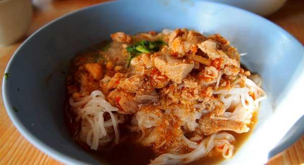 Myanmar Essen Shan Nudeln